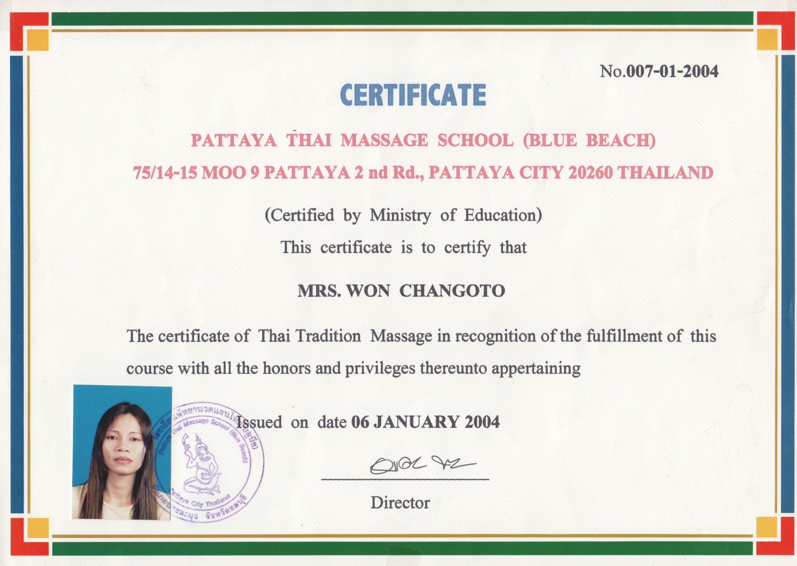 Thai-Massage-Zertifikate