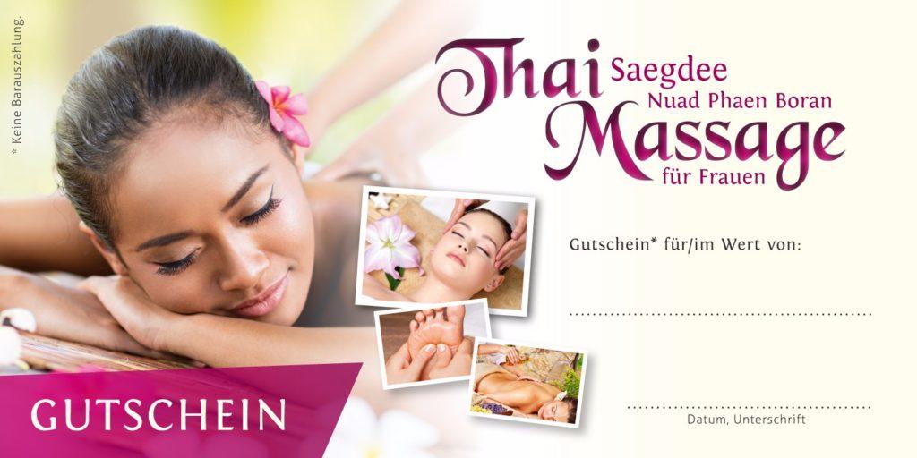 Saegdee Thaimassage Gutscheine
